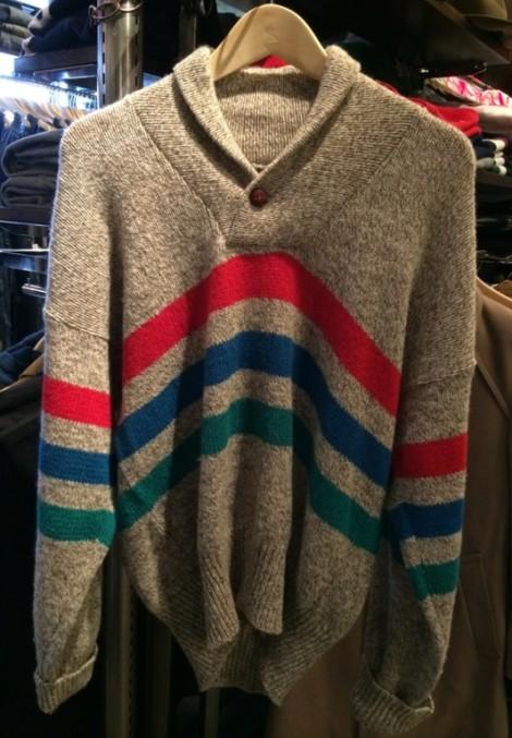 ショールカラーセーター